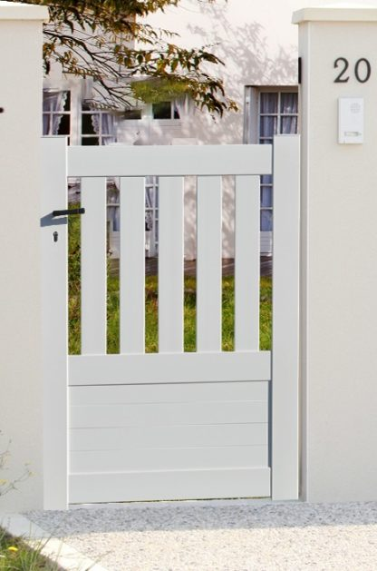 Portillon en KIT Semi-Ajouré Blanc