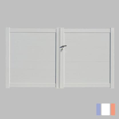 Portail en kit | Modèle plein | Battant | Blanc