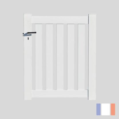 Portillon en kit | Modèle ajouré | Blanc