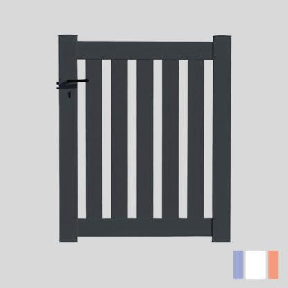 Portillon en kit | Modèle ajouré | Gris