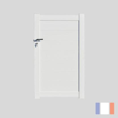 Portillon en kit   Modèle Plein   Blanc