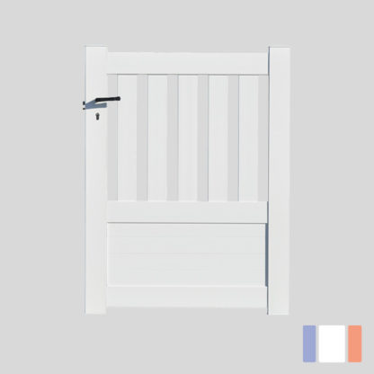 Portillon en kit | Modèle semi-ajouré | Blanc